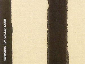 Detail of Black Fire I 1961 Painting By Barnett Newman