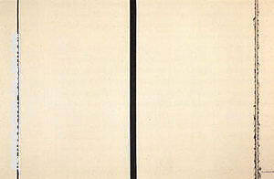 Shining Forth To George 1961 By Barnett Newman - Oil Paintings & Art Reproductions - Reproduction Gallery
