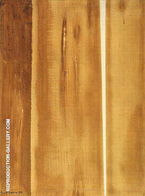 Two Edges 1948 Painting By Barnett Newman - Reproduction Gallery