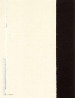 Seventh Station 1964 By Barnett Newman Replica Paintings on Canvas - Reproduction Gallery