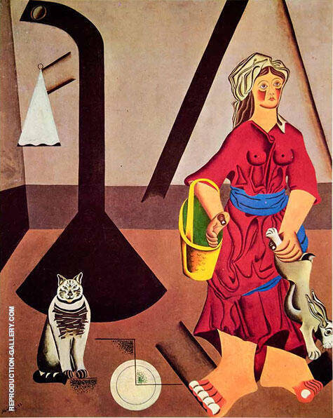 Farmers Wife 1922 By Joan Miro - Oil Paintings & Art Reproductions - Reproduction Gallery
