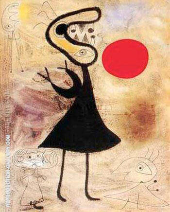 Reproduction of Woman in the Sun 2 by Joan Miro | Oil Painting Replica On CanvasReproduction Gallery