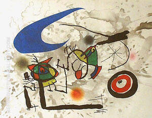 Pygmies Beneath The Moon By Joan Miro - Oil Paintings & Art Reproductions - Reproduction Gallery