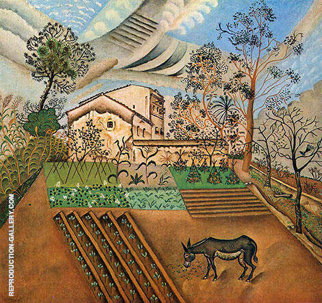 The Vegetable Garden with Donkey 1918 By Joan Miro - Oil Paintings & Art Reproductions - Reproduction Gallery