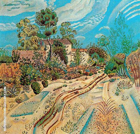The Waggon Tracks 1918 By Joan Miro