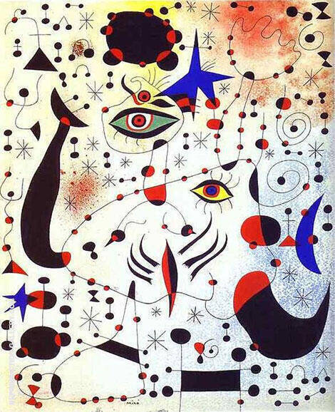 Reproduction of Constellations by Joan Miro | Oil Painting Replica On CanvasReproduction Gallery