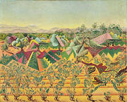 Montroig Vineyards and Olive Tree 1919 By Joan Miro