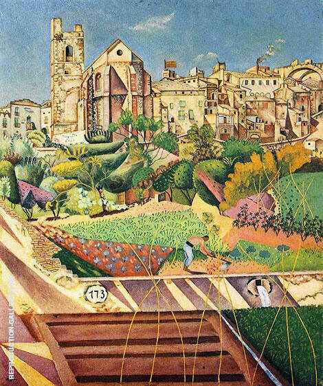 Montroig the Church and the Village 1919 Painting By Joan Miro