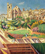 Montroig the Church and the Village 1919 By Joan Miro