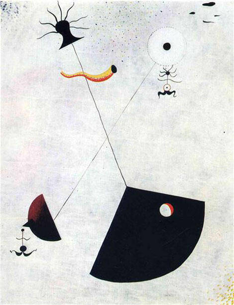 Maternity 1924 Painting By Joan Miro - Reproduction Gallery