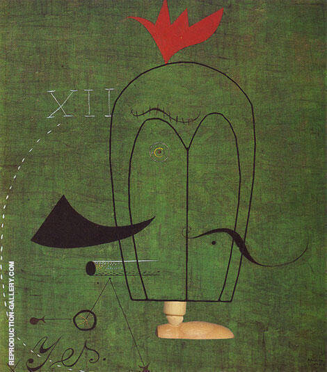 Gentleman 1924 Painting By Joan Miro - Reproduction Gallery