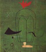 Gentleman 1924 By Joan Miro