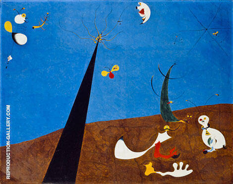 Dialogue of Insects 1924-25 Painting By Joan Miro - Reproduction Gallery