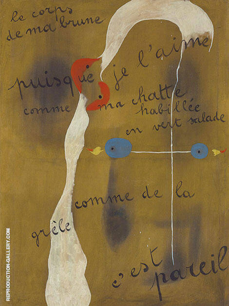 Painting Poem 1925 By Joan Miro