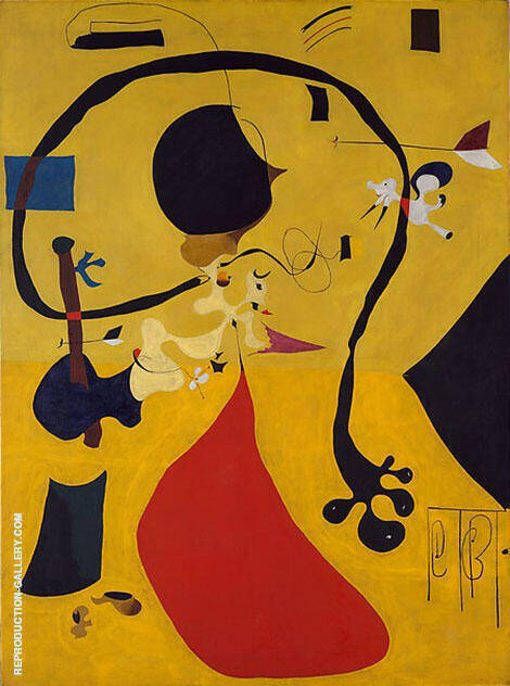 Reproduction of Dutch Interior III 1928 by Joan Miro | Oil Painting Replica On CanvasReproduction Gallery