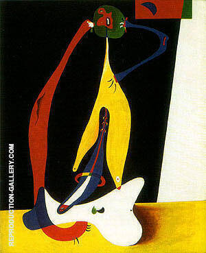 Reproduction of Seated Woman 1932 by Joan Miro | Oil Painting Replica On CanvasReproduction Gallery
