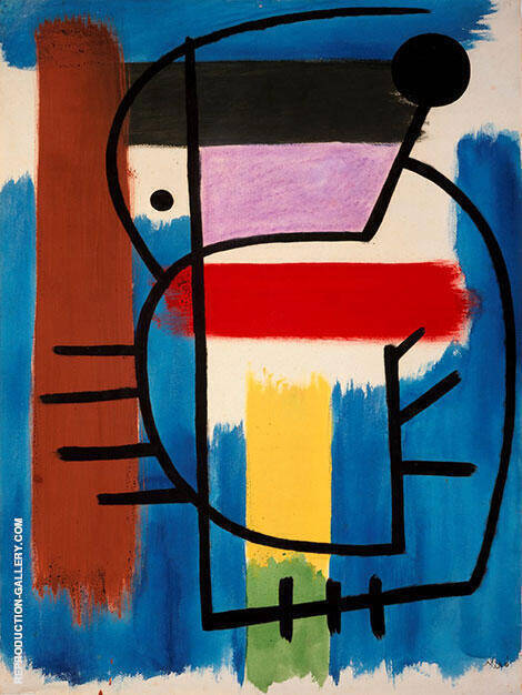 Reproduction of Seated Woman 1931 by Joan Miro | Oil Painting Replica On CanvasReproduction Gallery