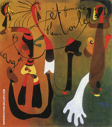 Snail Woman Flower Star 1934 By Joan Miro - Oil Paintings & Art Reproductions - Reproduction Gallery