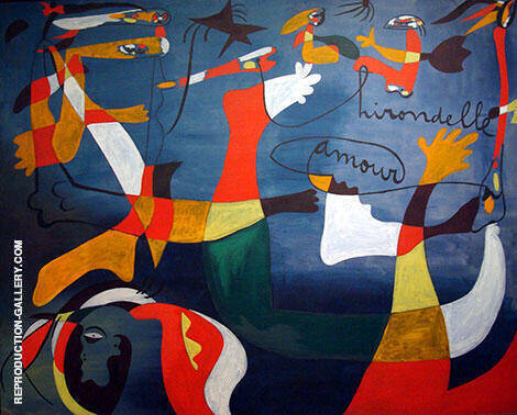 Hirondelle d'amour 1934 Painting By Joan Miro - Reproduction Gallery