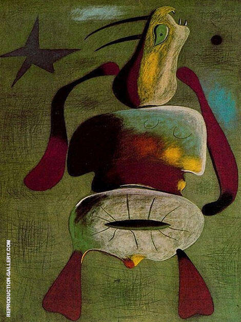 Woman 1934 By Joan Miro