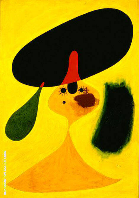 Portrait of Young Girl 1935 By Joan Miro - Oil Paintings & Art Reproductions - Reproduction Gallery