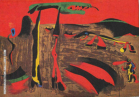 Figures in Front of Nature 1935 By Joan Miro - Oil Paintings & Art Reproductions - Reproduction Gallery