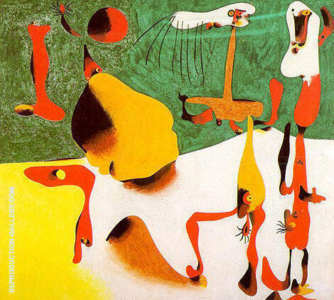 Figures in Front of a Metamorphosis 1936 Painting By Joan Miro
