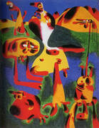 Figures and Mountains 1936 By Joan Miro