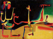Man and Woman in Front of a Pile of Excrement 1936 By Joan Miro