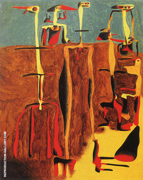 Seated Figures March 1936 Painting By Joan Miro - Reproduction Gallery