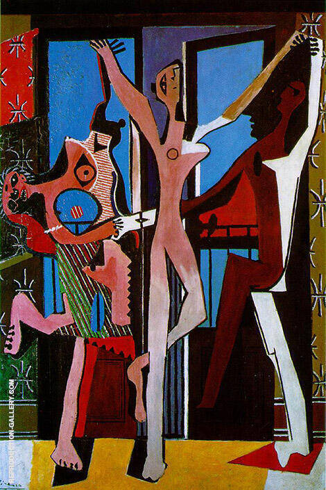 Three Dancers 1925 By Pablo Picasso - Oil Paintings & Art Reproductions - Reproduction Gallery