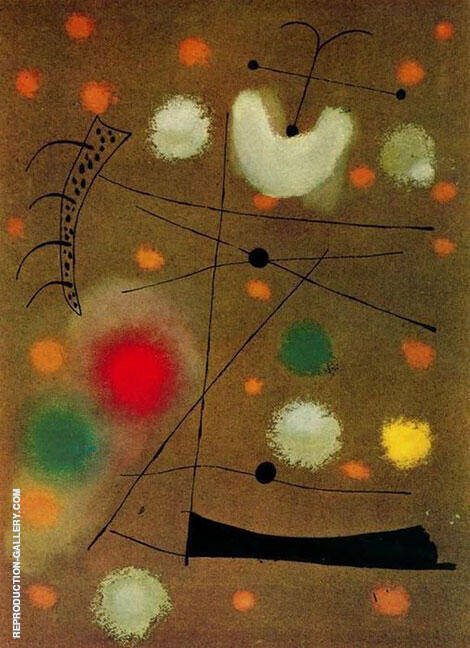 Painting of Celotex 1937 By Joan Miro