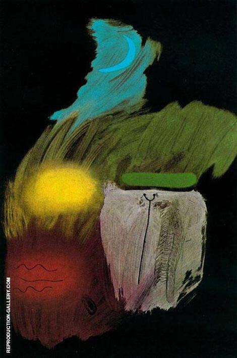 Gouache on Black 1937 By Joan Miro
