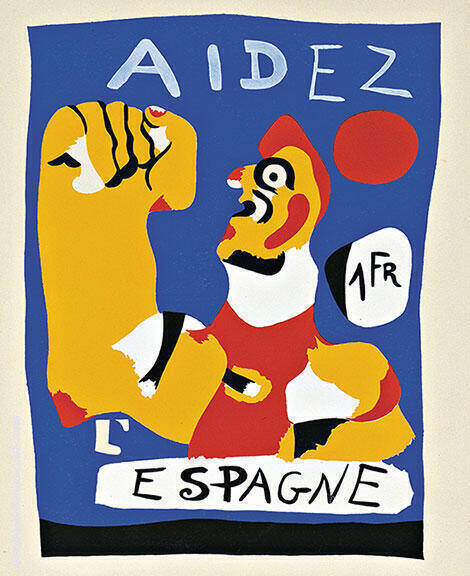 Aidez l'Espagne Help Spain 1937 Painting By Joan Miro