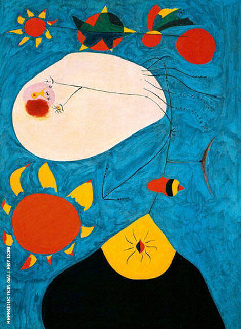 Portrait IV 1938 By Joan Miro Replica Paintings on Canvas - Reproduction Gallery