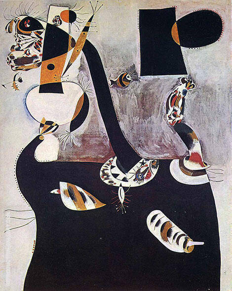 Seated Woman II 1938 Painting By Joan Miro - Reproduction Gallery
