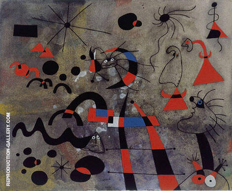 The Escape Ladder 1940 Painting By Joan Miro - Reproduction Gallery