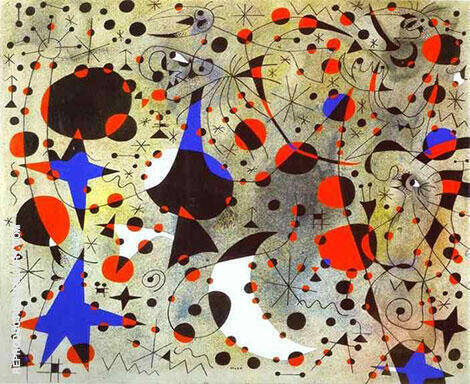 The Nightingale's Song at Midnight and Morning Rain 4-9-1940 By Joan Miro