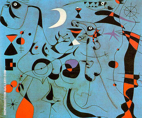Personages at Night Guided by the Phosphorescent Tracks of Snails 1940 Painting By ...