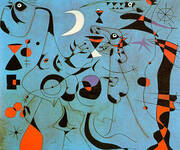 Personages at Night Guided by the Phosphorescent Tracks of Snails 1940 By Joan Miro