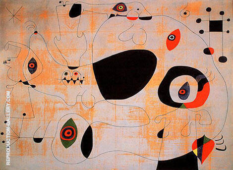 The Port 1945 By Joan Miro Replica Paintings on Canvas - Reproduction Gallery