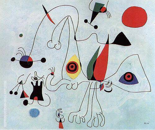 Women and Birds at Sunrise 1946 By Joan Miro