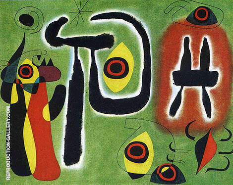 The Red Sun Gnaws at the Spider 1948 By Joan Miro - Oil Paintings & Art Reproductions - Reproduction Gallery