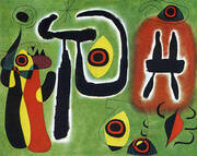 The Red Sun Gnaws at the Spider 1948 By Joan Miro