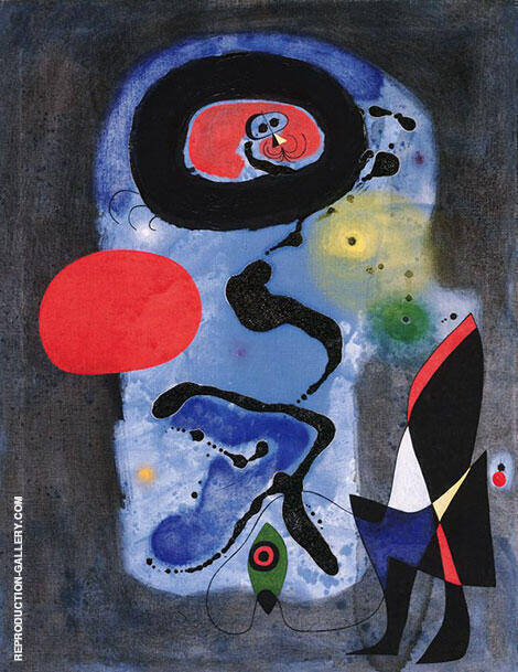 The Red Sun 1948 Painting By Joan Miro - Reproduction Gallery