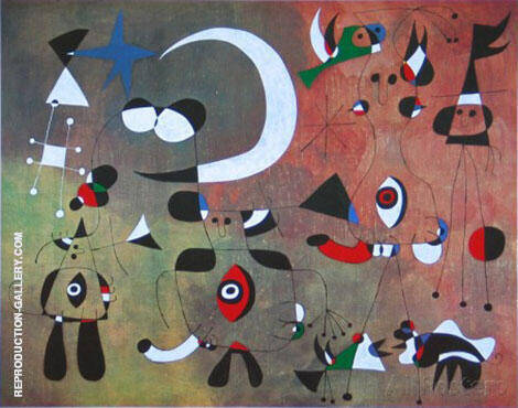 Figures in the Night 1949 By Joan Miro