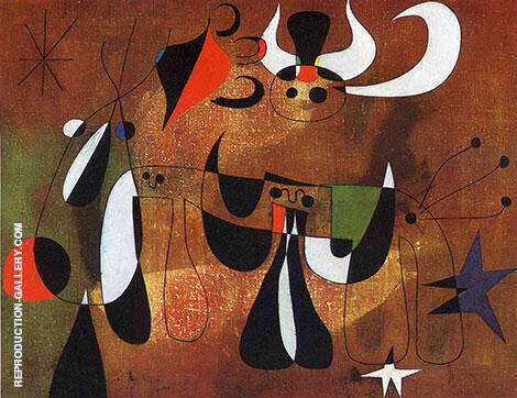 Figures in the Night 1950 By Joan Miro Replica Paintings on Canvas - Reproduction Gallery