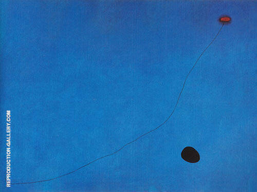 Reproduction of Blue III 1961 by Joan Miro | Oil Painting Replica On CanvasReproduction Gallery