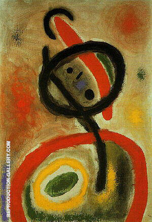 Femme III 2-6-1965 By Joan Miro - Oil Paintings & Art Reproductions - Reproduction Gallery