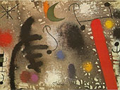 Lovers Coupled in the Night 1966 By Joan Miro